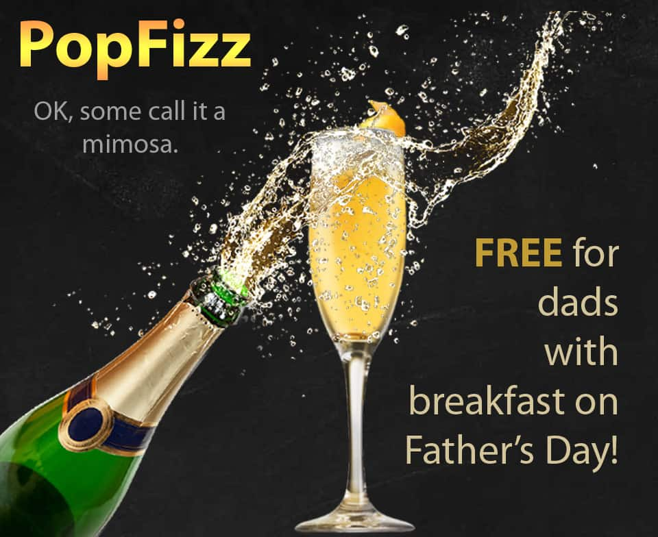Free mimosa for Dads on Father's Day at KC's American Kitchen
